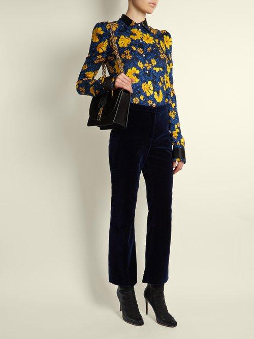 Marlowe floral-print silk-jacquard blouse by Altuzarra