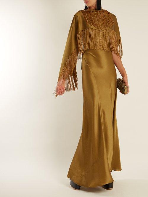 Marlene V-neck silk wrap dress by Gabriela Hearst