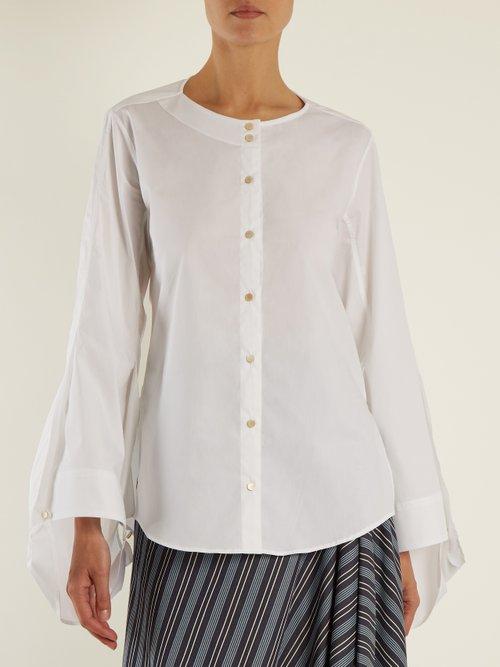 Balloon-sleeved cotton-blend shirt by Palmer/Harding