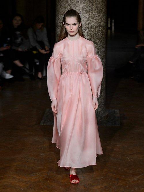 Flora silk-gazar midi dress by Emilia Wickstead