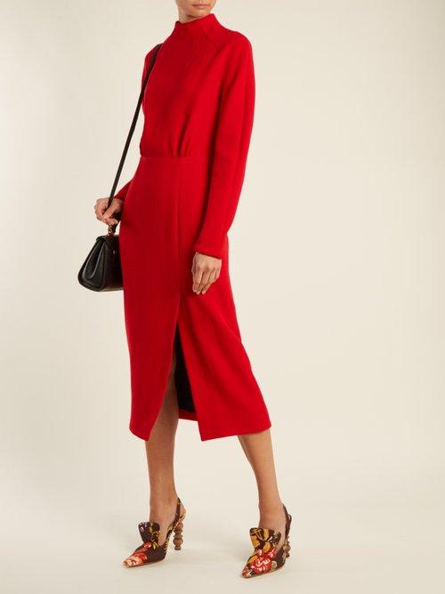 Milan open-back wool-crepe dress by Emilia Wickstead