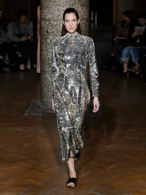 Roma open-back sequin dress by Emilia Wickstead