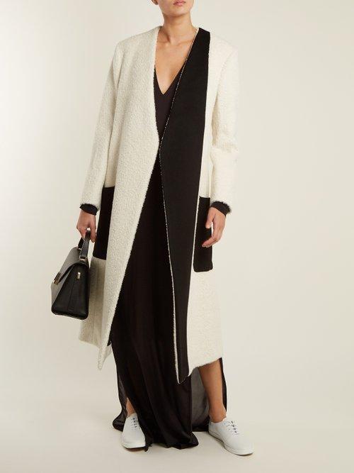 Collarless Bi Colour Coat by Summa