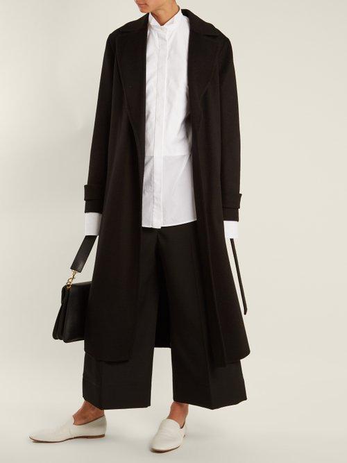Wingtip-collar cotton-poplin shirt by Summa