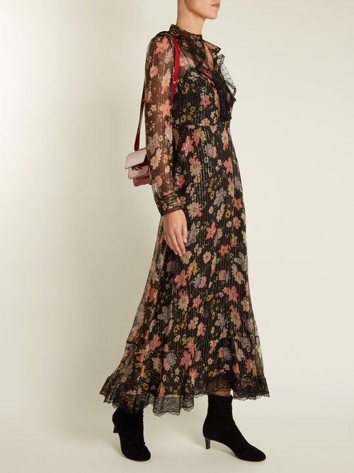 Floral-print silk-chiffon dress by Redvalentino