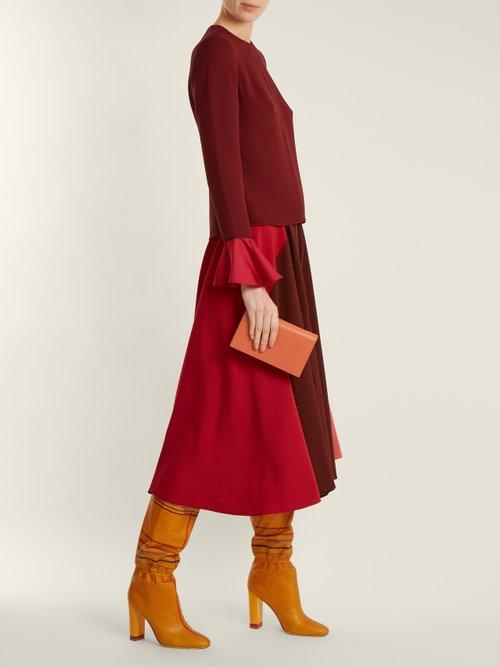 X Roksanda Kendas striped leather boots by Malone Souliers