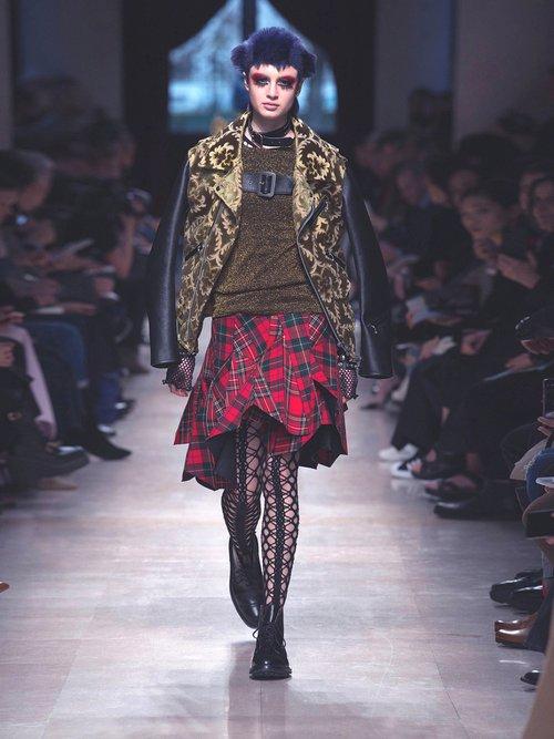 Floral Jacquard Contrast Sleeve Jacket by Junya Watanabe