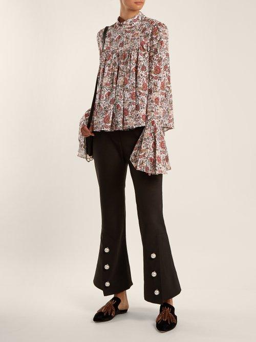 James floral-print cotton blouse by Caroline Constas