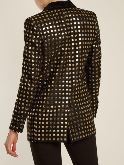 Marquita Everyday square-jacquard blazer by