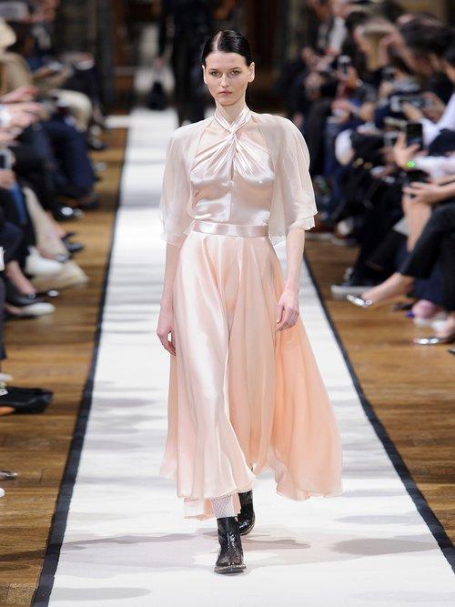 Twisted halterneck silk midi dress by Lanvin