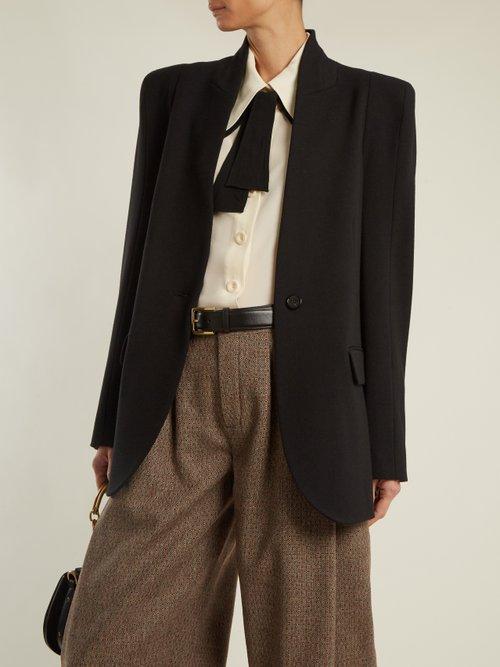 Single-breasted stretch-wool blazer by