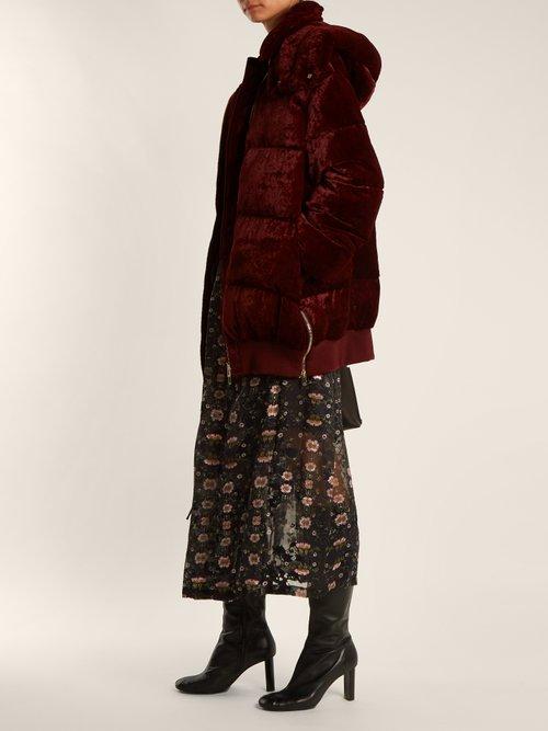 Photo of Stefani oversized quilted-velvet jacket by Stella Mccartney - shop Stella Mccartney jackets and coats sales