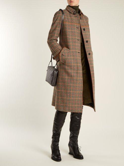 Intrecciato-panel leather over-the-knee boots by Bottega Veneta