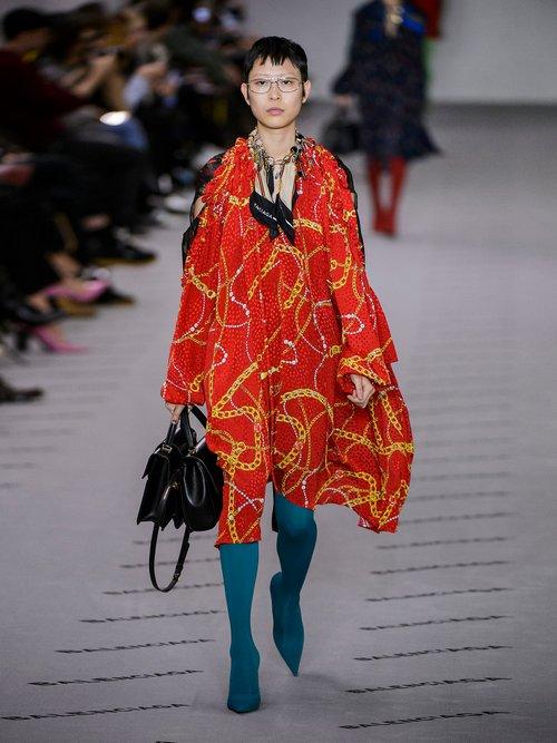Photo of Balenciaga Flou Dress, shop Balenciaga dresses online sale
