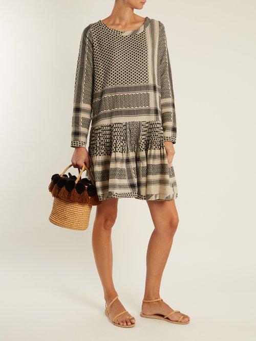Beat round-neck scarf-jacquard cotton dress by Cecilie Copenhagen