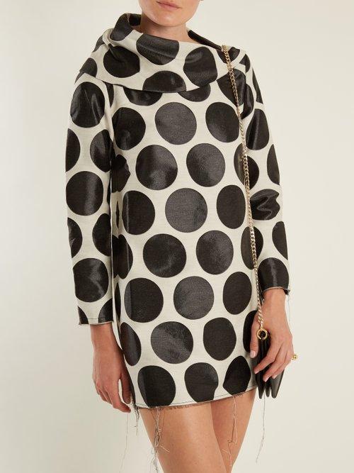 Circle Jacquard Asymmetric Neck Dress by Marques'Almeida