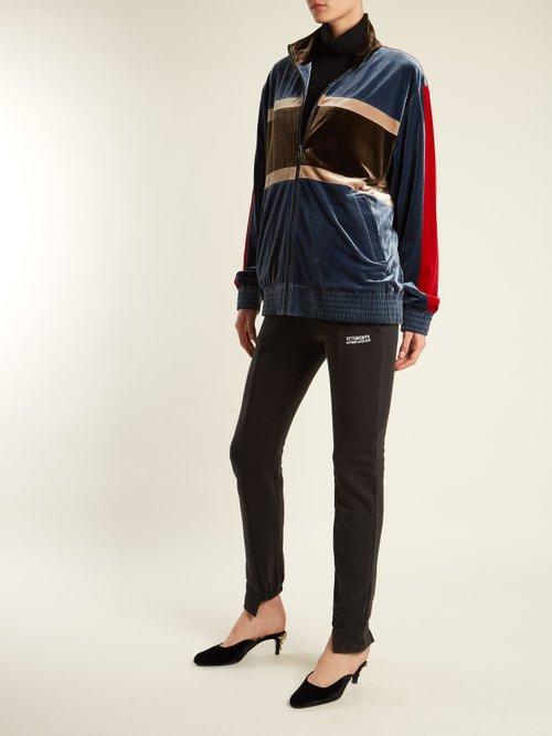 Contrast Panel Velvet Jacket by