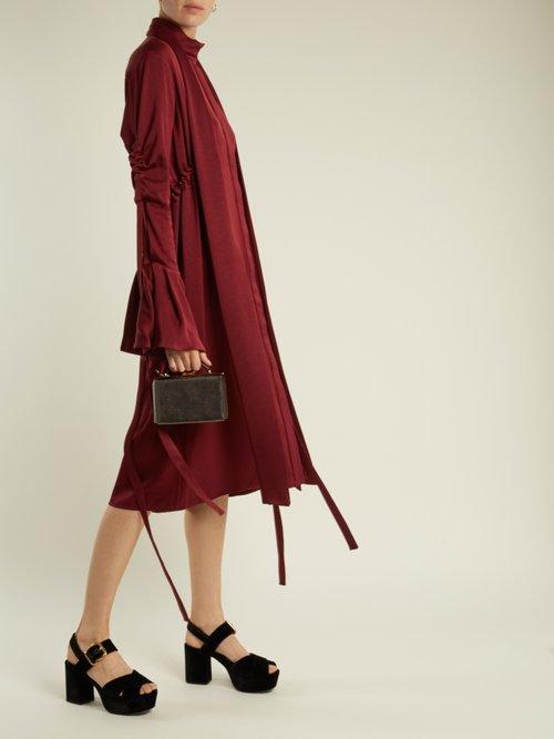 Inez Drawstring Crepe Back Satin Dress by Ellery