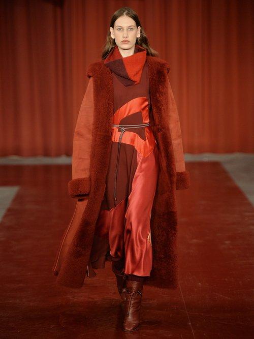 Keanu multi-panel sleeveless crepe dress by Roksanda