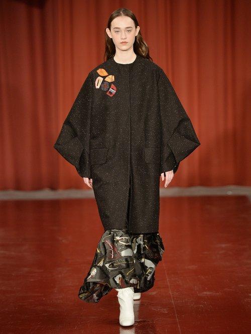 Rimini Origami Sleeved Embellished Coat by Roksanda