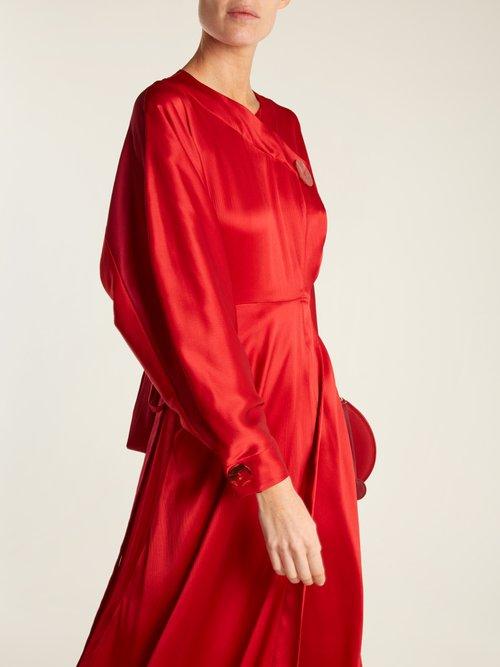 Timona Wrap Around Silk Dress by Roksanda