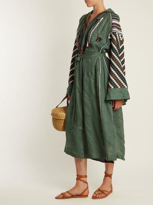 New Tisa embroidered lightweight linen dress by Vita Kin