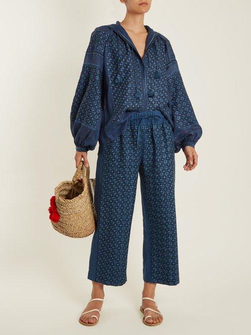 Strawberry Field mid-weight linen blouse by Vita Kin