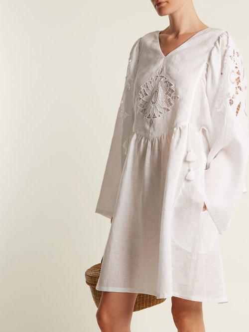 Sunflower mid-weight linen dress by Vita Kin