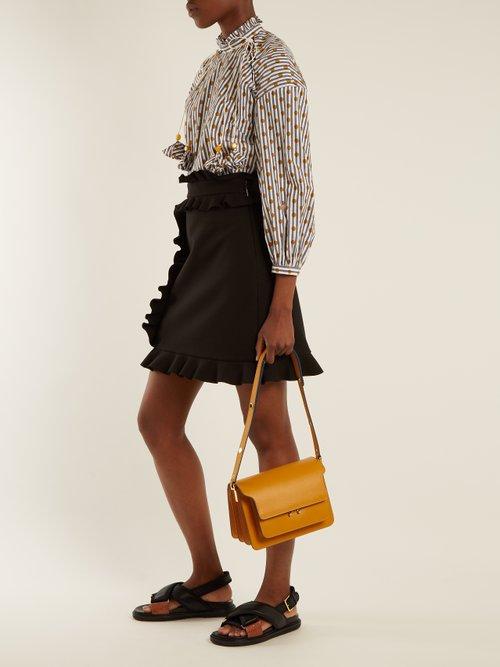 High-neck polka-dot cotton top by Anna October