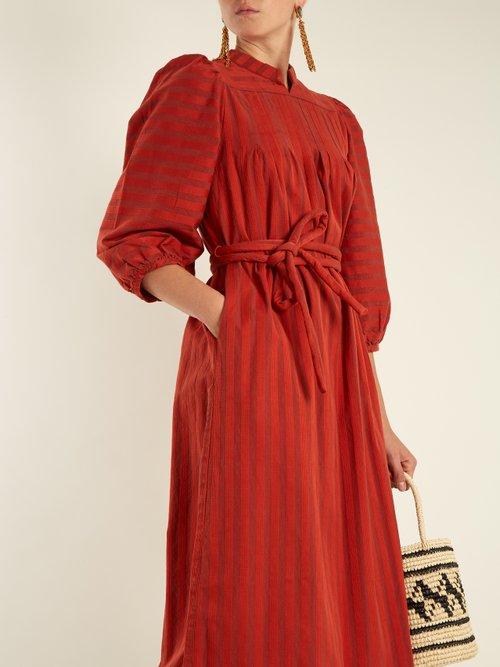 Lyon tie-waist striped-cotton dress by Ace & Jig