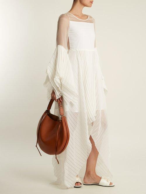 X Juan Hernandez Daels pleated silk dress by Chufy