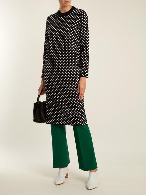 Polka-dot jacquard wool sweater dress by Duro Olowu