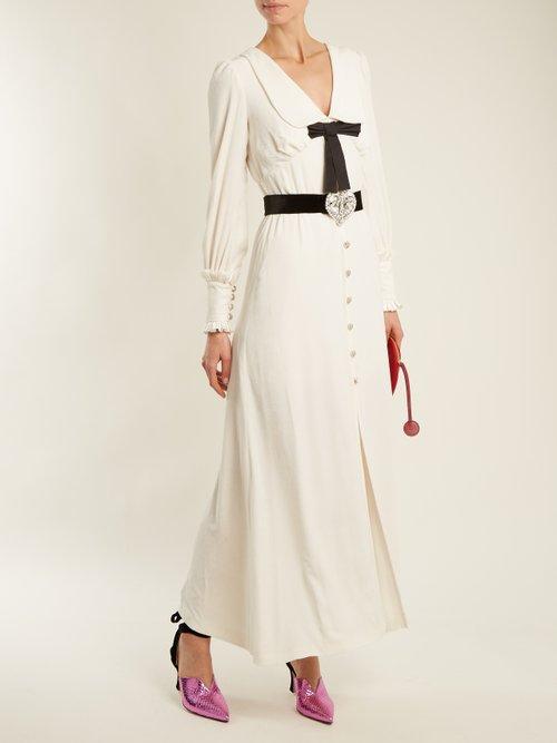 Froisse button-down velvet dress by Alessandra Rich