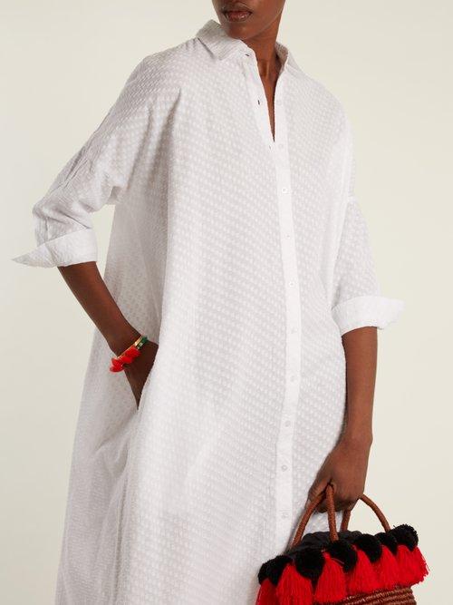 Maxi Beach cotton shirtdress by Wiggy Kit