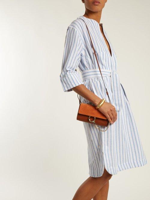 Cabana striped cotton-blend dress by Wiggy Kit
