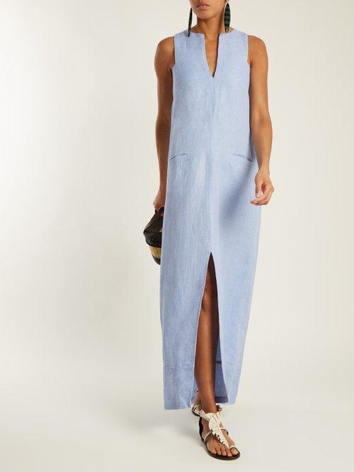 Alamod cotton and linen-blend maxi dress by Wiggy Kit