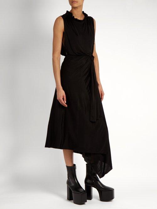 Sleeveless wraparound jersey dress by Vetements