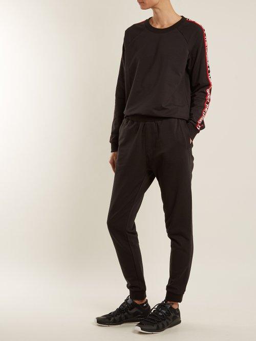 Star Bound crew-neck cotton-blend sweatshirt by The Upside