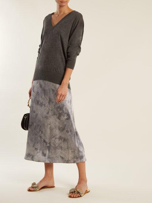 Lilico floral-embellished leather slides by Sophia Webster