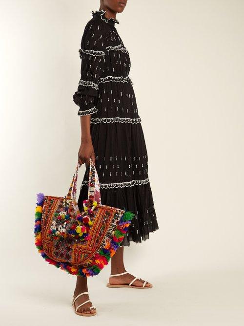 Mirror Coin embellished shoulder bag by Muzungu Sisters
