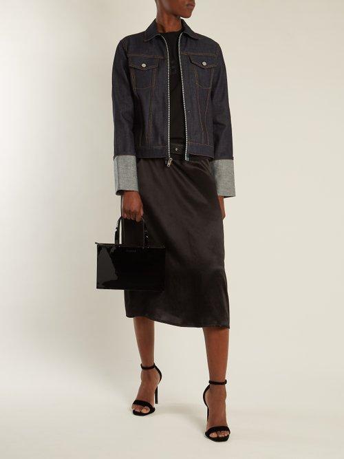 Zip Through 2004 Denim Jacket by Helmut Lang