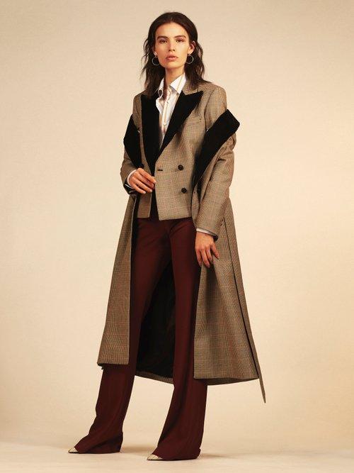 If And When Pow Velvet Lapel Tie Waist Coat by
