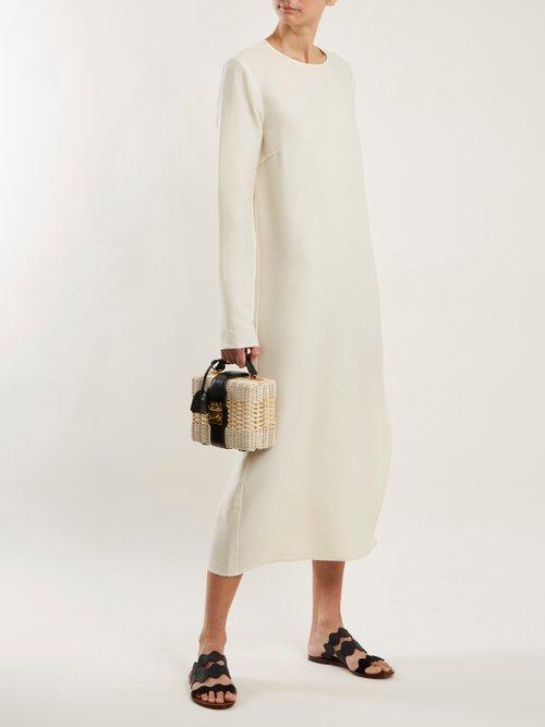 Elle Wool And Silk Blend Dress by Albus Lumen