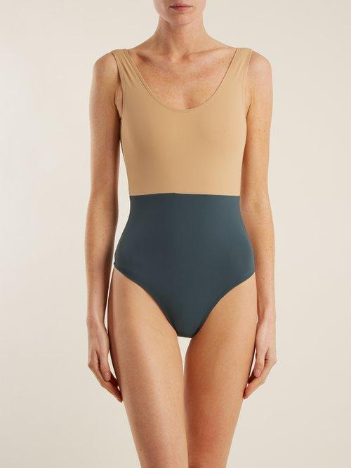 Costa bi-colour swimsuit by Albus Lumen