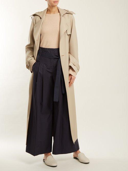 Fiandra Intrecciato leather backless loafers by Bottega Veneta