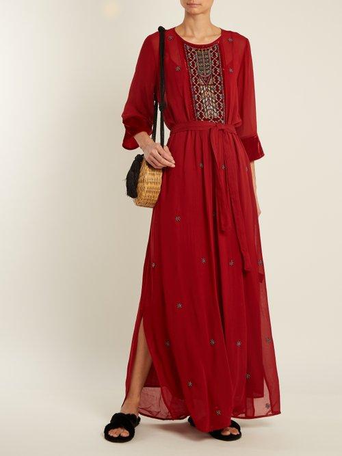 Lyla bead-embellished sheer dress by Velvet By Graham & Spencer