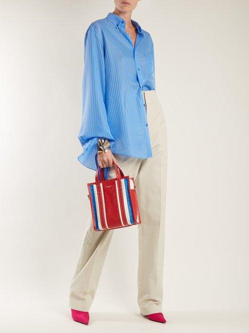 Striped silk-jacquard shirt by Balenciaga