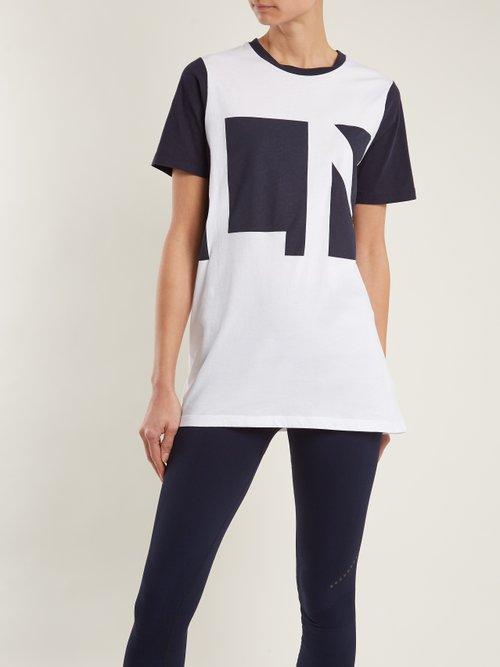 Crew-neck logo-print organic-cotton T-shirt by Lndr