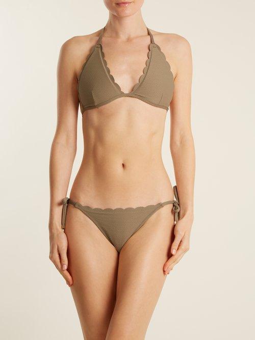 Lamu halterneck bikini top by Heidi Klein