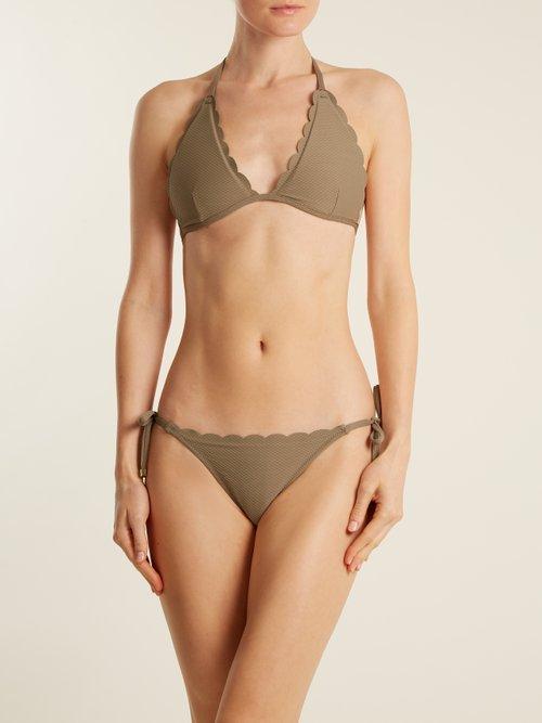 Lamu tie-side bikini briefs by Heidi Klein